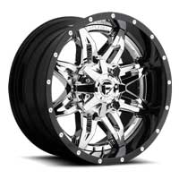 Fuel 2 piece wheels Lethal Chrome