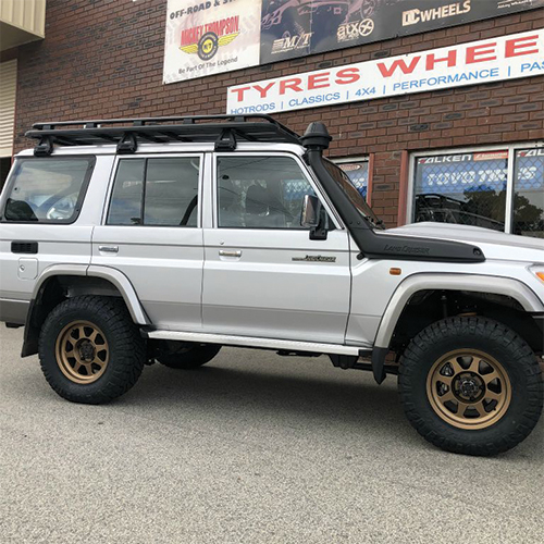 17 inch method rims mr701 on 76 series Landcruiser