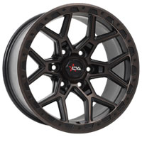Offroad Armour Predator 4x4 rims in satin black machined face