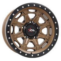 Offroad Armour Havok rims in satin bronze with satin black lip