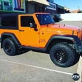 Jeep fitted with Dynamic Dshape 17x9 4x4 wheels and Toyo RT Tyres