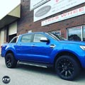 Ranger XLT fitted with 4x4 wheels and tyres - Mickey Thompson wheels M366 and Toyo AT2 tyres