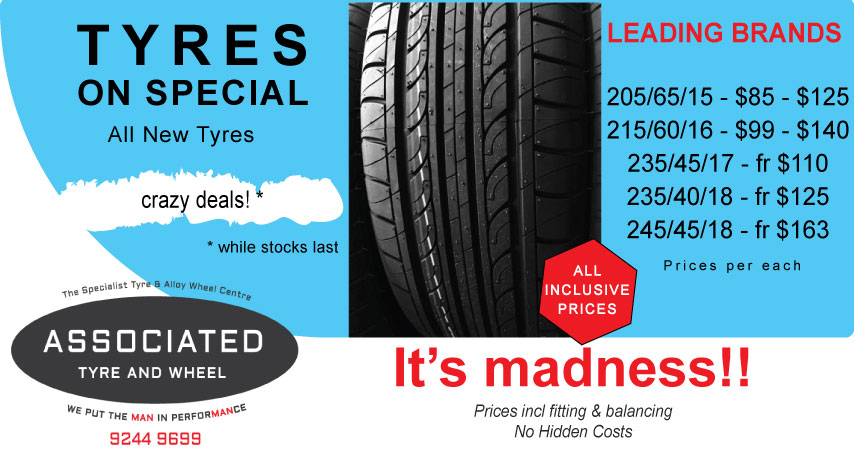 Discounted Tyres on sale Perth
